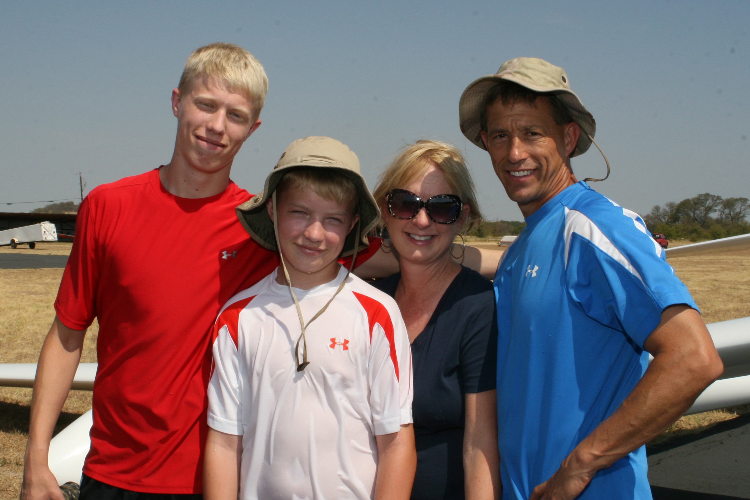 Family at Texas Soaring Association